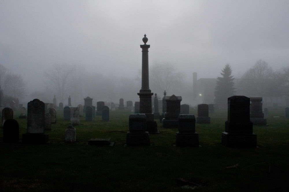 Dunkles Friedhof